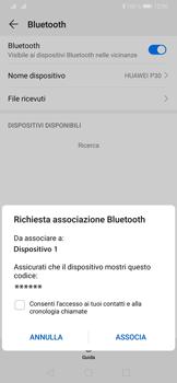 Huawei P30 - Bluetooth - Collegamento dei dispositivi - Fase 7