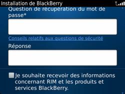 BlackBerry 9900 Bold Touch - BlackBerry activation - BlackBerry ID activation - Étape 10