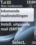 Nokia 2330 classic - e-mail - handmatig instellen - stap 17