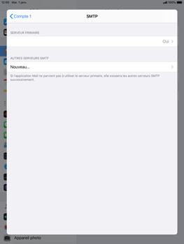 Apple iPad 9.7 (2018) - iPadOS 13 - E-mail - configuration manuelle - Étape 20