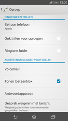 Sony E2003 Xperia E4G - voicemail - handmatig instellen - stap 5