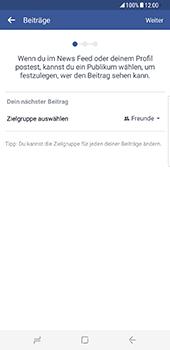 Samsung Galaxy S8 Plus - Datenschutz und Sicherheit - Datenschutzeinstellungen von Facebook ändern - 8 / 35