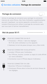 Apple iPhone 6s Plus - Internet et connexion - Utiliser le mode modem par USB - Étape 7