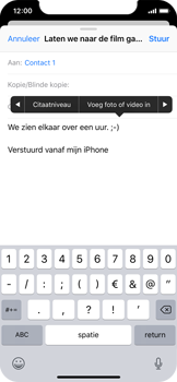 Apple iPhone X - iOS 12 - E-mail - hoe te versturen - Stap 10