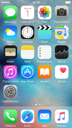 Apple iPhone 5c iOS 9 - Risoluzione del problema - E-mail e messaggistica - Fase 1