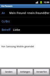 Samsung Galaxy Xcover - E-Mail - E-Mail versenden - 1 / 1