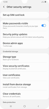 Samsung Galaxy A70 - Security - Set the PIN code for your SIM card - Step 6