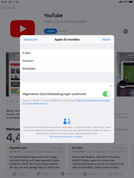 Apple iPad Air 2 - iOS 12 - Apps - Konto anlegen und einrichten - Schritt 10