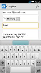 Alcatel OT-7041X Pop C7 - E-mail - Sending emails - Step 8