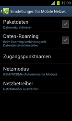 Samsung Galaxy S II - Netzwerk - Manuelle Netzwerkwahl - Schritt 6