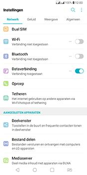 LG Q7 - Buitenland - Internet in het buitenland - Stap 4