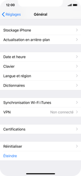 Apple iPhone X - iOS 12 - Appareil - Restauration d