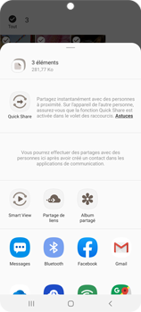 Samsung Galaxy S20+ - Photos, vidéos, musique - Envoyer une photo via Bluetooth - Étape 11