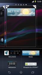 Sony Xperia Z1 - Startanleitung - Installieren von Widgets und Apps auf der Startseite - Schritt 6