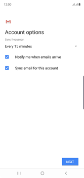 Samsung Galaxy Note 10 - E-mail - manual configuration - Step 20