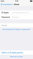 Apple iPhone 5 iOS 7 - Applicazioni - Configurazione del servizio Apple iCloud - Fase 4