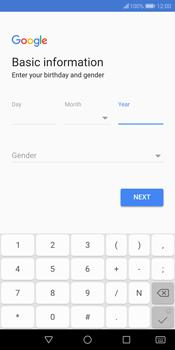 Huawei P Smart - Applications - Create an account - Step 7