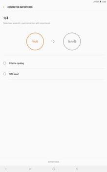 Samsung galaxy-tab-a-10-5-sm-t595 - Contacten en data - Contacten kopiëren van SIM naar toestel - Stap 14