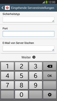 Samsung Galaxy Note III LTE - E-Mail - Manuelle Konfiguration - Schritt 10