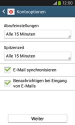 Samsung Galaxy Ace III - E-Mail - Manuelle Konfiguration - Schritt 17