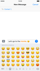 Apple iPhone 6s iOS 10 - iOS features - Send iMessage - Step 14