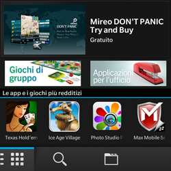 BlackBerry Q10 - Applicazioni - Configurazione del negozio applicazioni - Fase 3