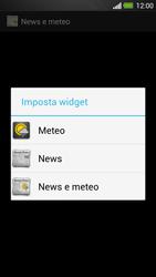 HTC One - Operazioni iniziali - Installazione di widget e applicazioni nella schermata iniziale - Fase 6