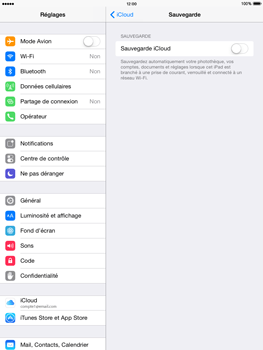 Apple iPad mini - iOS 8 - Applications - Configuration du service iCloud d