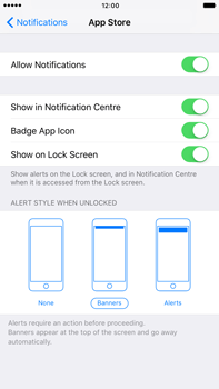 Apple Apple iPhone 6s Plus iOS 10 - iOS features - Customise notifications - Step 10