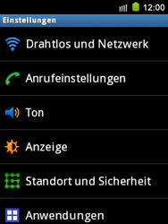 Samsung Galaxy Mini - Anrufe - Rufumleitungen setzen und löschen - 4 / 9