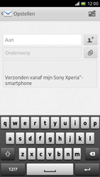 Sony LT28h Xperia ion - e-mail - hoe te versturen - stap 5