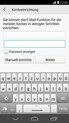 Huawei Ascend P7 - E-Mail - Konto einrichten - 0 / 0
