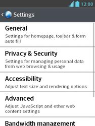 LG E430 Optimus L3 II - Internet - Manual configuration - Step 21