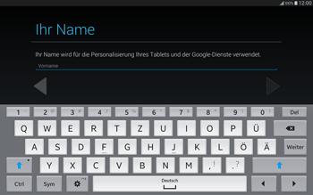 Samsung T805 Galaxy Tab S - Apps - Einrichten des App Stores - Schritt 5