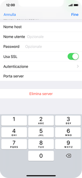 Apple iPhone X - E-mail - configurazione manuale - Fase 19