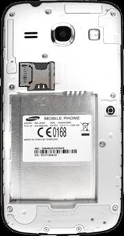 Samsung G3500 Galaxy Core Plus - SIM-Karte - Einlegen - Schritt 5
