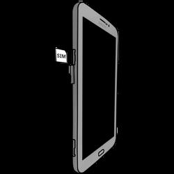 Samsung T211 Galaxy Tab 3 7-0 - SIM-Karte - Einlegen - Schritt 3