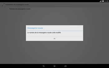 Sony Xperia Tablet Z2 (SGP521) - Messagerie vocale - configuration manuelle - Étape 10