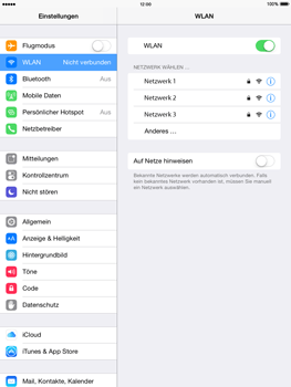 Apple iPad Air iOS 8 - WiFi - WiFi-Konfiguration - Schritt 5