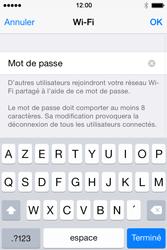 Apple iPhone 4S (iOS 8) - Internet et connexion - Partager votre connexion en Wi-Fi - Étape 8