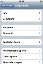 Apple iPhone 3GS - Netzwerk - Netzwerkeinstellungen ändern - Schritt 4