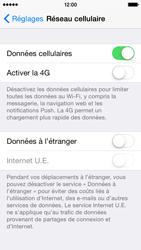 Apple iPhone 5s - iOS 8 - Internet et roaming de données - Désactivation du roaming de données - Étape 5