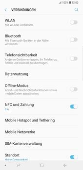 Samsung Galaxy Note9 - Internet und Datenroaming - Prüfen, ob Datenkonnektivität aktiviert ist - Schritt 5