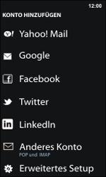Nokia Lumia 800 / Lumia 900 - E-Mail - Manuelle Konfiguration - Schritt 6