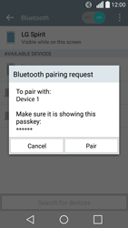 LG Spirit 4G - Bluetooth - Connecting devices - Step 8