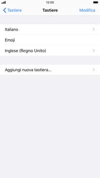 Apple iPhone 7 Plus - iOS 13 - Operazioni iniziali - Come aggiungere una lingua alla tastiera - Fase 8