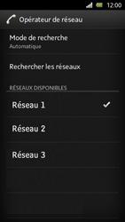 Sony Xperia U - Réseau - Sélection manuelle du réseau - Étape 11