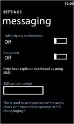 Nokia Lumia 710 - SMS - Manual configuration - Step 5