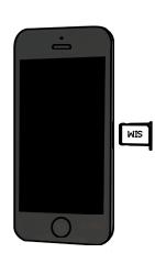 Apple iPhone 5 - SIM-Karte - Einlegen - Schritt 3