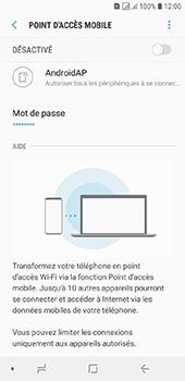 Samsung Galaxy J6 - Internet et connexion - Partager votre connexion en Wi-Fi - Étape 7